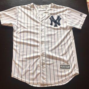buy popular d6257 c8204 New York Yankees White Brett Gardner Jersey